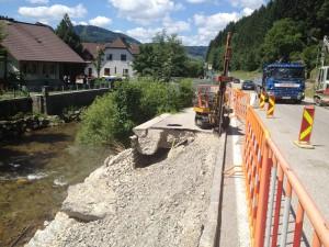 Unwetterschaden Brücke Niederösterreich